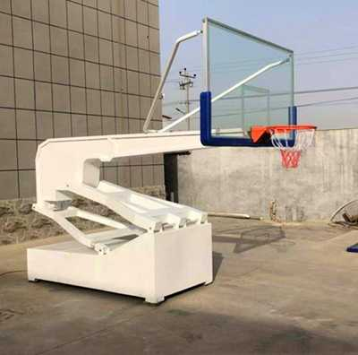 Super luxury intelligent electric hydraulic adjustable portable basketball stand for training