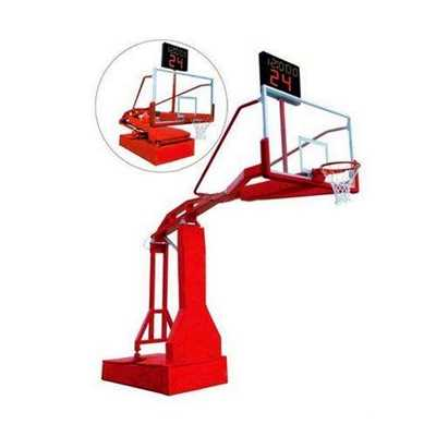 Manual hydraulic basketball stand