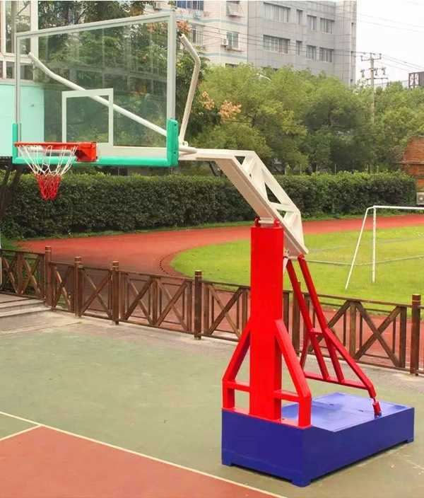 Imitation hydraulic shaped basketball rack