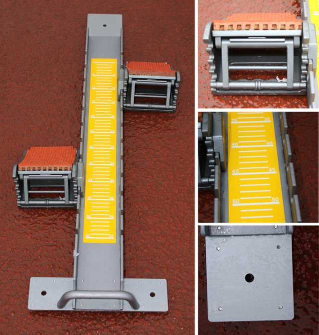Starting blocks for advanced track and field events