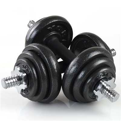 Fitness Weight Lifting Cast Iron Dumbbell Painted Black Dumbbells