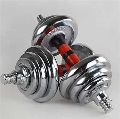 Galvanized cast iron dumbbell set