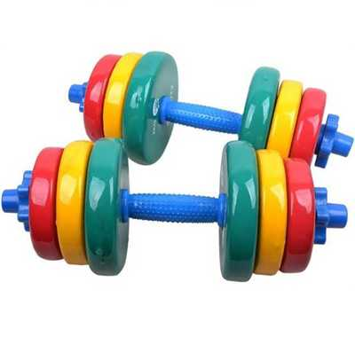 Adjustable colorful rubber-coated cast iron dumbbell