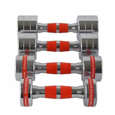 Electroplating Steel Fixed Dumbbells