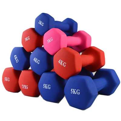 Fitness Portable Color Neoprene Dipped Dumbbell