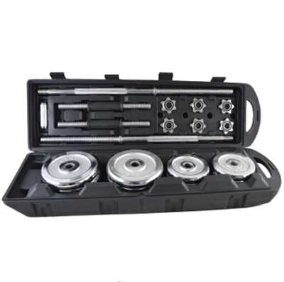 Household Weight Lifting Adjustable Cast Iron Chrome Dumbbell Set