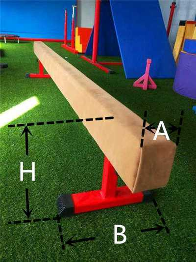 Basic parameters of children's gymnastic equipment balance beam