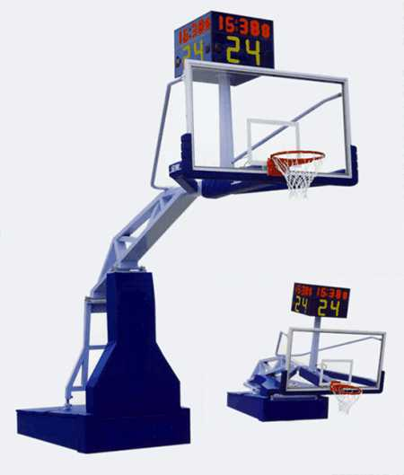 What are the dimensions, specifications and heights of Chinese standard basketball racks?